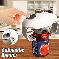 Helmay - Apriscatole elettrico automatico in plastica, funzionamento a batteria, per aprire utensili da cucina