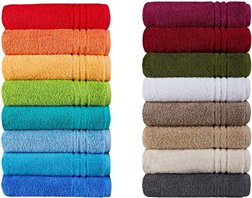 Naturawalk Handtücher Serie Milano Bio-Baumwolle in Luxusqualität, in 7 Größen und 16 Trendfarben - Grösse Handtuch 50x100 cm, Farbe Rot 031