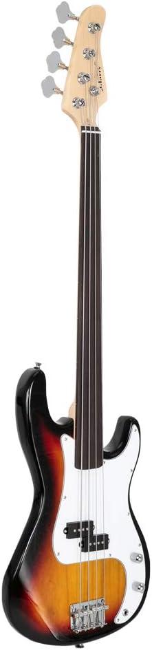 Glarry Fretless 格安店 Electric Bass Guitar Full for 4 訳あり商品 Size expe String