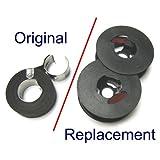 'Package of Two' Remington Typewriter Ribbon - Black Spools - Old Remington Typewriter Supplies Compatible NO Metal Grommets