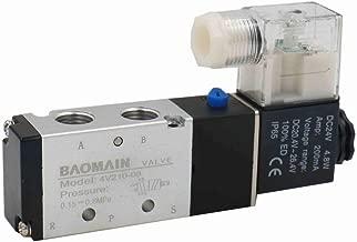 Baomain Pneumatic Air Control Solenoid Valve 4V210-08 DC 24V 5 Way 2 Position PT1/4