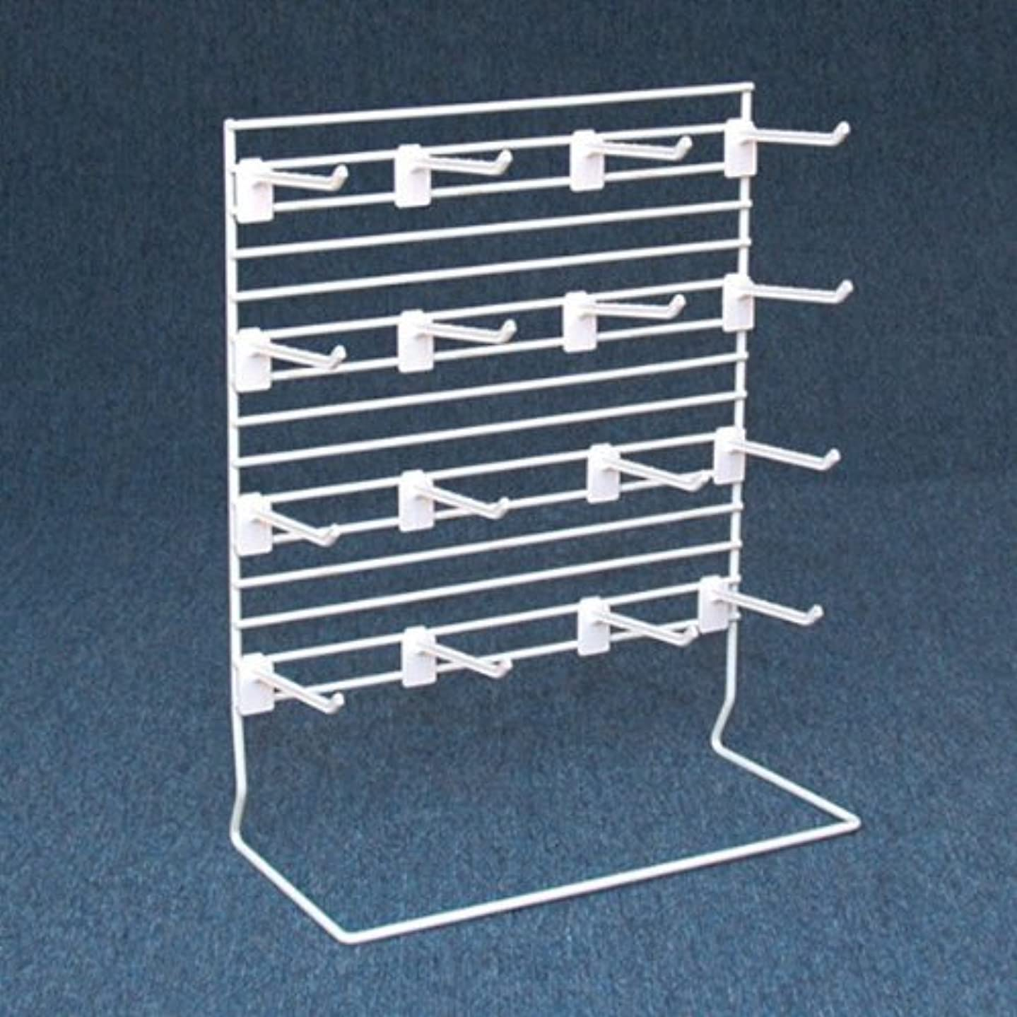 Countertop Grid Merchandise Display Rack with 12 Hooks - Craft Room Organizer, Vendor Booths, Ecommerce or Retail