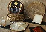 1/2 QUESO DE LECHE CRUDA DE OVEJA VIEJO CURADO ARTESANO 'CHILLON' sabor persistente sin ser agresivo en el paladar.