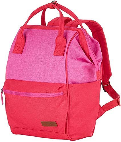 Travelite Leichtes lässiges Surferlook Trolley Umhängetasche 40 cm, 18 L, Rot/Pink