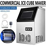 SHZOND Commercial Ice Maker 88LBS/24H Stainless Steel Commercial...