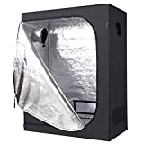Hon&Guan 24'x48'x60' Grow Tent, 600D Mylar Hydroponic Indoor Grow Room for Grow Light and Growing Plant with Observation and Floor Tray for Indoor Plant Growing
