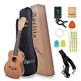 Concert Ukulele,Quality Basswood 23 Inch Ukulele Kit With Ukele Bag,Spare Strings,Tuner,Strap Bag