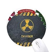ロゴ放射性物質警告 クリスマスツリーの滑り止めゴム形のマウスパッド