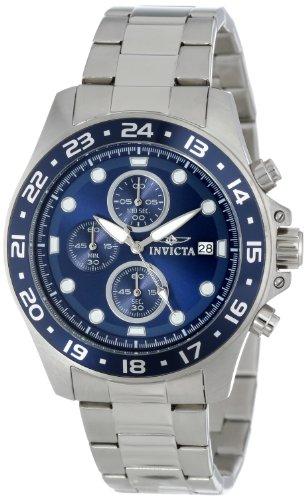 Invicta Men's Pro Diver 45mm Stainless Steel Chronograph Quartz Watch, Silver (Model: 15205)