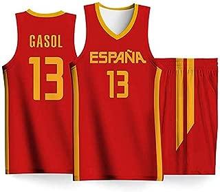 LLYLL Selección española Equipo de Baloncesto Masculino Camiseta ...