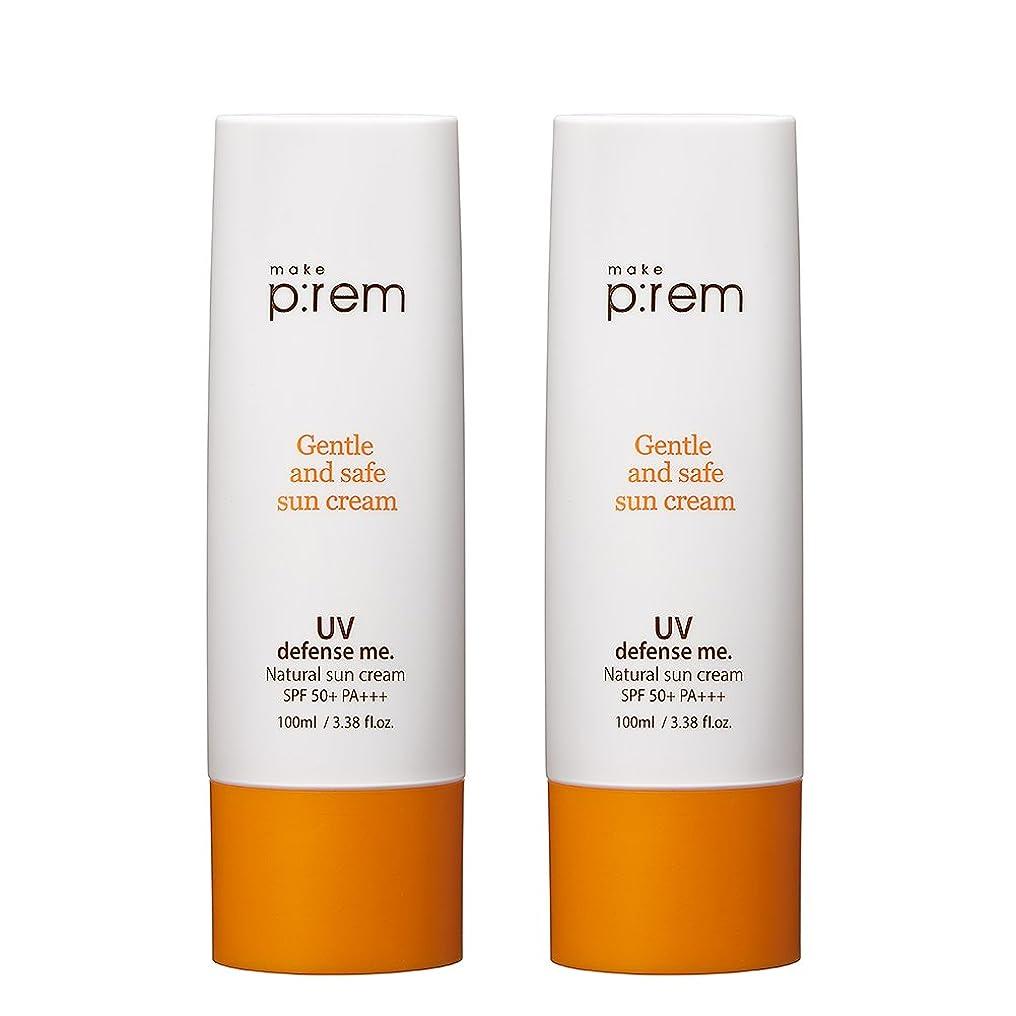 それぞれ北米歴史家(2個セット) x [MAKE P:REM] UV defense me. Natural sun cream ナチュラル サン クリーム 100ml SPF 50+ PA+++ / 韓国製 . 海外直送品