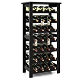 Homfa Bamboo Wine Rack, 7 Tier Free Standing Wine Storage Rack Display Shelves 28 Bottles Capacity...