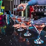 Glowbal Filz Untersetzer rund für Gläser 12er Set, Design Glasuntersetzer in dunkelgrau für Getränke, Bar, Tassen, Glas - Tischuntersetzer Filzuntersetzer - 2
