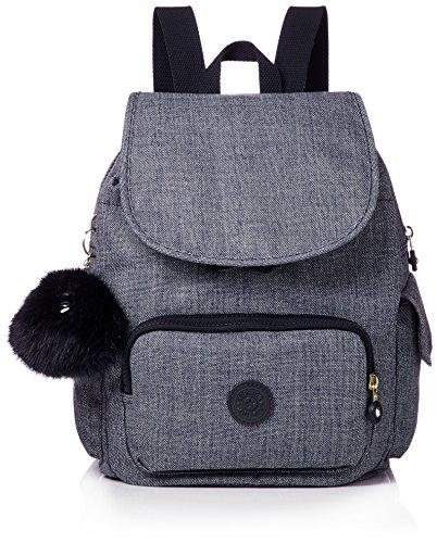 Kipling Damen City Pack S Rucksack, Blau (Cotton Jeans), 27 x 33.5 x 19 cm