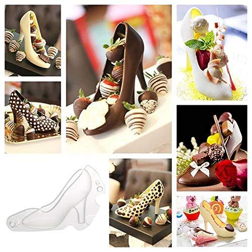 Hunpta 3D High Heel Schuh Schokoladenform Süßigkeit Kuchen Gelee Form Hochzeit Dekoration DIY (Clear)