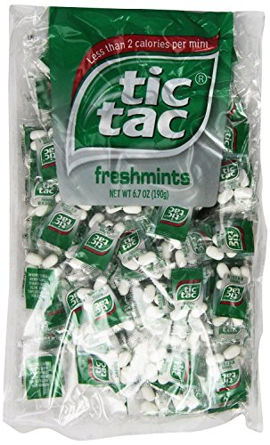 tic tac Freshmint Pillow Pack, 100 Count bag (Pack 5) 500 individually wrapped packs of 4 mints each