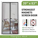[Upgrade Version] Magnetic Screen Door, IKSTAR Fiberglass Mesh Door Instant Closure with Full Frame Hook&Loop, Keep Fly/Bugs Out, Pet/Kids Walk Through Freely, Fit Doors Up to 36'x82' Max