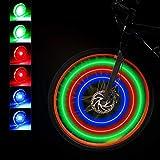 Luces de Rueda de Bicicleta Luces de Radios de Bicicleta Ciclismo LED Impermeable Luces Rueda Bicicleta Colores Luz Radio Llanta 3 Colores con Baterias Incluidas para Ciclismo Seguridad (24 Piezas)