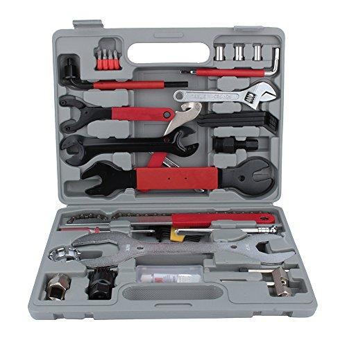 GOTOTOP Maletín de herramientas para bicicleta, 44 piezas, para trabajos de montaje y reparación de bicicletas