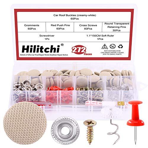 Hilitchi 152Pcs Auto Car Roof Headliner Repair Kit Roof Snap Rivets...