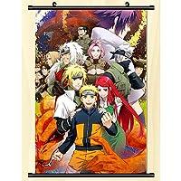 アニメナルトコスプレウォールスクロール壁画ポスターウォールハングポスターアニメーション周辺ファンギフト-50x75cm,20inchx30inch