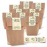 Logbuch-Verlag 25 piccoli sacchetti regalo di carta, 16,5 x 26 x 6,5 cm, regali per clienti, Natale, dipendenti, regalo vintage