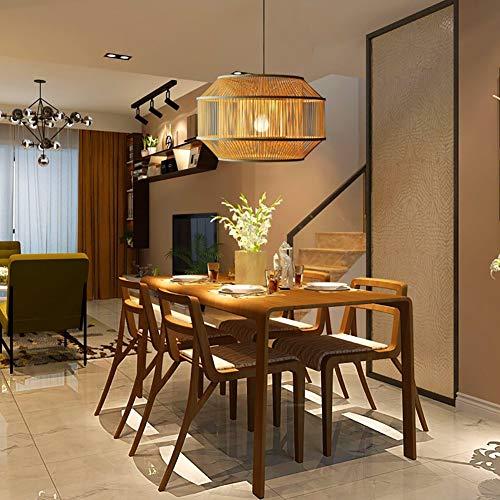 KOKOF Araña de lucesNuevo candelabro de Arte de bambú de Estilo Chino, Creativo Simple Zen Estilo japonés de iluminación de bambú/Tatami Dormitorio Restaurante Tea House Lighting / E27 CMAA-50 * 50