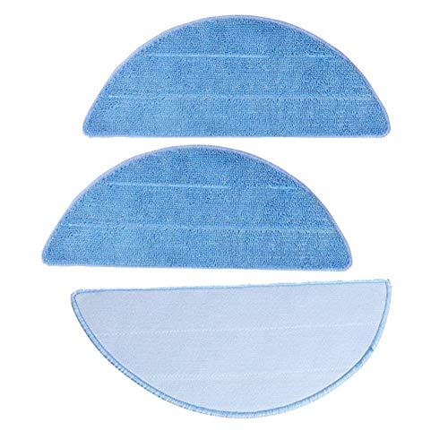 Mikrofasertücher Mop Tücher, Mikrofaser Pads für ILIFE V3 V5 V5 V5s Pro Staubsauger Roboter Zubehör Strukturiert, Blau, 3 Stück - 280 x 115 mm