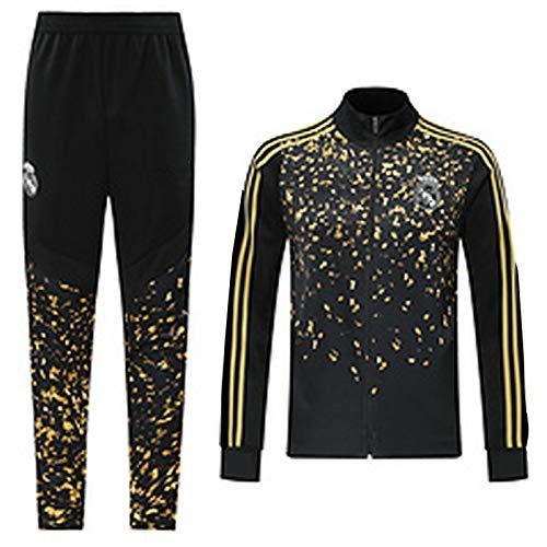 Football Jersey Reǎl Mǎdrid Formation Costume Manches Longues Sweat-Shirt Homme Survêtements Top + Pantalons Sports de Plein air Vie Quotidienne Automne et Hiver dou XXL