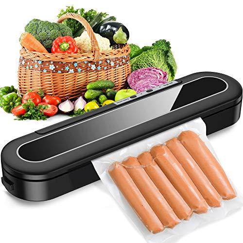 Sross Vacuum Sealer Machine, Automatic Food Sealer for Food Savers w/Starter Kit, 15 Pcs Vacuum Bags, Automatic Vacuum Air Sealing System Led Indicator Lights, Dry & Moist Food Modes