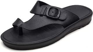 XINBONG Men Striped Slippers Beach Slippers Non-Slip Bathroom Men Blue Black Holiday Beach Shoes Slippers