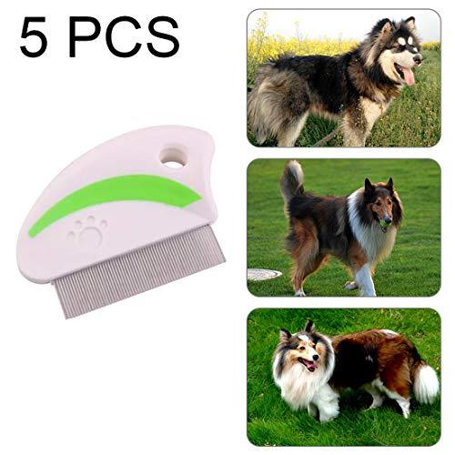 Haustier Paulclub 5 PCS-Edelstahl-Nadel Combs Pet Flöhe Entfernung Beauty Supplies, zufällige Farbe Lieferung