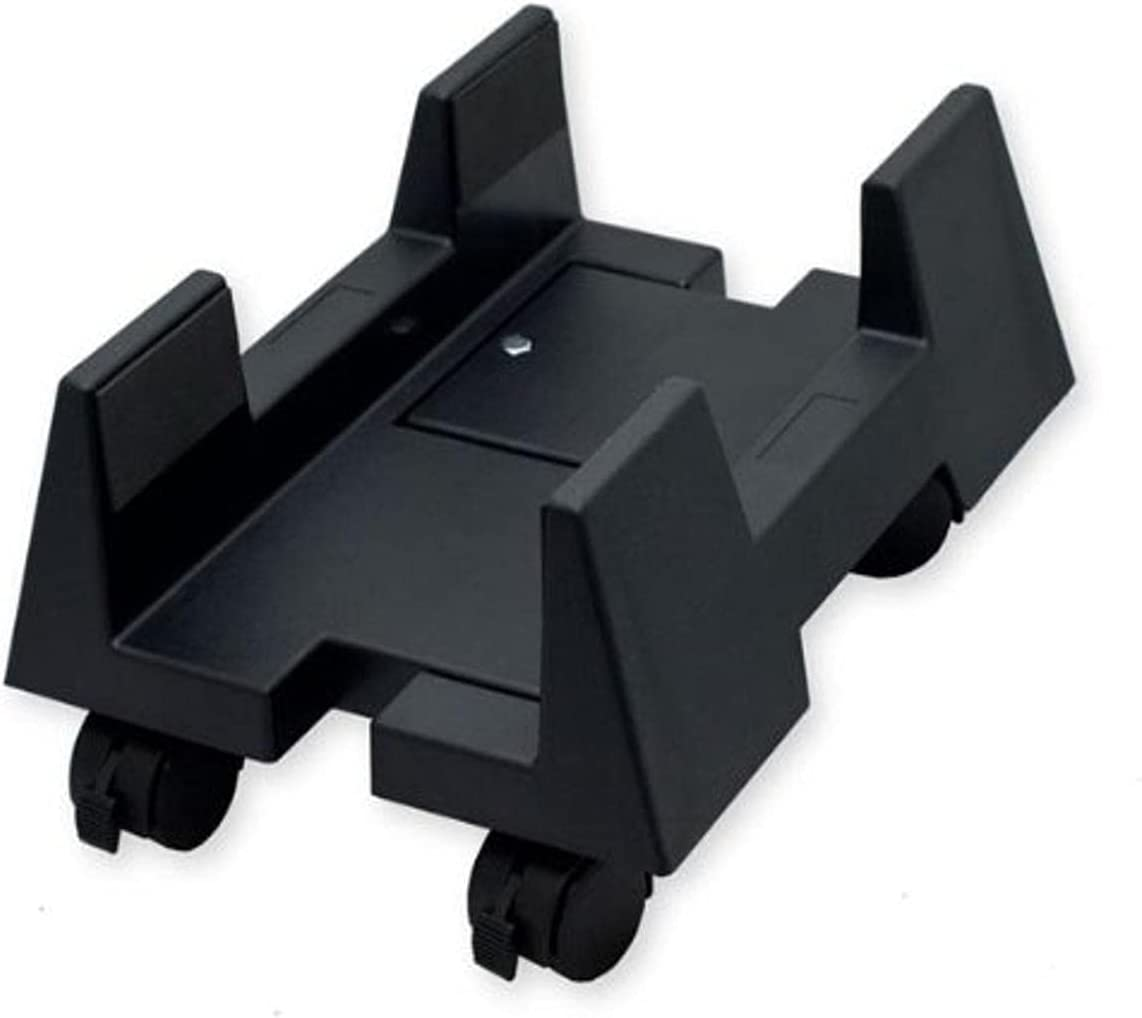 IO CREST Mobile Desktop Tower Computer Floor Stand Rolling Caster Wheels with Support Walls and Adjustable Width from 6