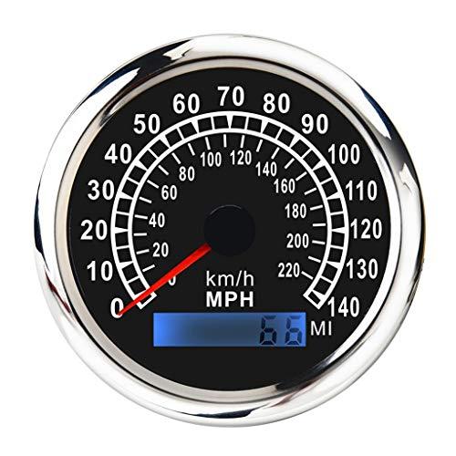 U/D LCZCZL Velocímetro Marina Doble Escala Digital GPS Velocímetro Medidor 0-140MPH / km/h 85 mm 316L