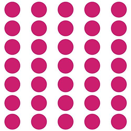 kleb-Drauf | 35 Punkte | Pink - glänzend | Wandtattoo Wandaufkleber Wandsticker Aufkleber Sticker | Wohnzimmer Schlafzimmer Kinderzimmer...