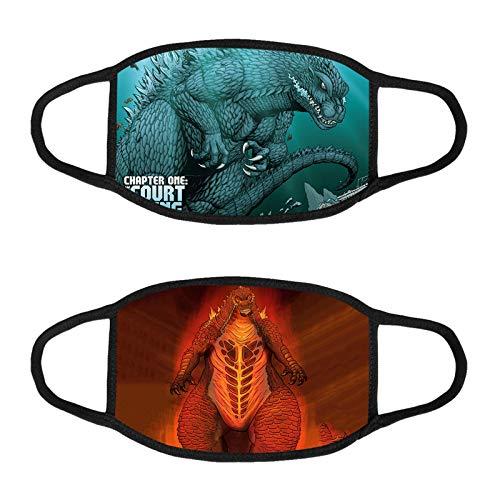 2pcs Godzilla Protection Cloth Face Bandana Shield Bandanas for Kids Boys Girls Children Safety Shield Protection