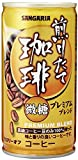 サンガリア 煎りたて珈琲プレミアム 微糖 缶 190mlx30本