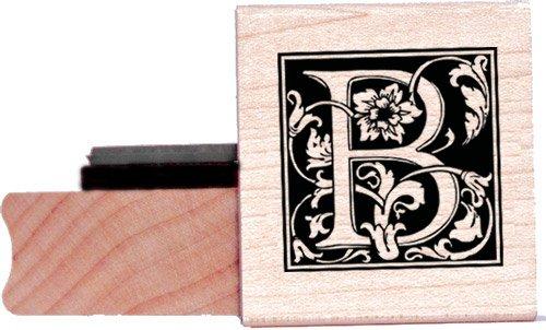 Tampon en caoutchouc alphabet - Lettre B à la William Morris
