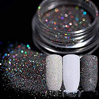 Graven 3 Boxes 1g Holographic Gradient Nail Glitter Powder Shining Sugar Glitter Pigment Dust Powder Manicure Nail Art Decoration
