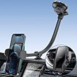"""Windshield Car Phone Holder Mount, 13"""" Gooseneck Truck Cell Phone Holder for Car with Strong Suction Cup, Hands Free Dash Windshield Air Vent Cell Phone Mount for Car Truck, Fits 4.7-7 inches Mobile"""