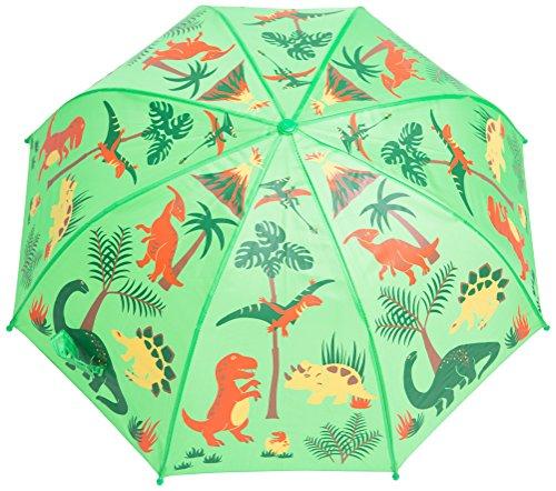Babalu Kids Umbrella - Childrens 18 Inch Rainy Day Umbrella - Dinosaurs Green/Red