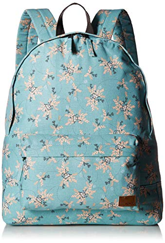 Roxy Women's Sugar Baby Canvas Backpack, Aquifer Flowers Everyday Swim, 1SZ
