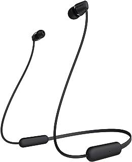 ソニー ワイヤレスイヤホン WI-C200 : Bluetooth対応/最大15時間連続再生/マイク付き 2019年モデル ブラック WI-C200 BC