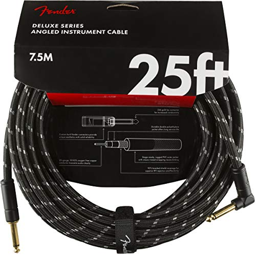 Fender Deluxe Series - Cable alargador (7,5 m), color negro