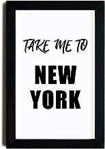 McC538arthy Wood Frame Sign Art Digital Print Poster, Take Me to New York Printable Art, Typography Art Motivational Print...