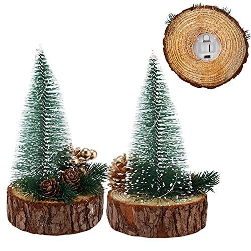 delicada mano de obra artificial árbol de Navidad Mini árbol de Navidad forma exquisita ornamento sala de estar dormitorio Navidad fiesta estudio (color cálido)