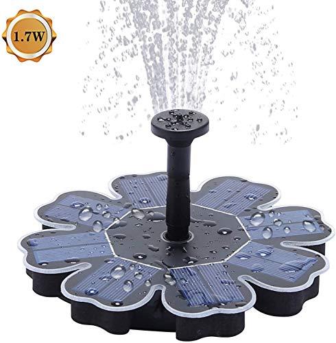 JFZCBXD Solar-Teichpumpe 1.7W Solar Tauchteichpumpe im Freien Wasser-Eigenschaft für Vogel-Bad, Garten-Brunnen, Teich und Wasserkreislauf