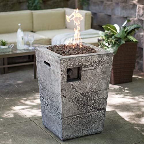 Jee Design- Firepits for Outside Propane-Fire Pit Tables for Outside Patio-Stone Gas Fire Column-The Centerpiece of Your Outdoor Entertainment Space