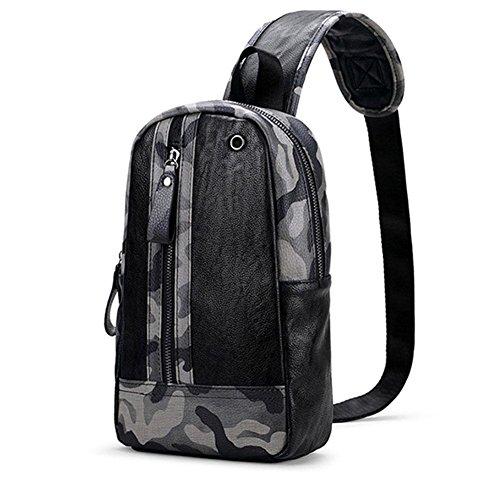 Sac de Poitrine corset de imperméable à l'eau résistant à l'usure grande capacité mâle dames sac de poitrine Messenger bag Sling bag , Camouflage