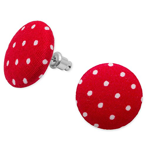 Soul-Cats® Stoffohrstecker Punkte polka dots, Farbe:rot